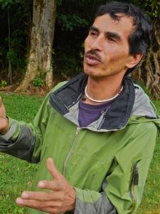 Barboza explaining the many threats to orchids